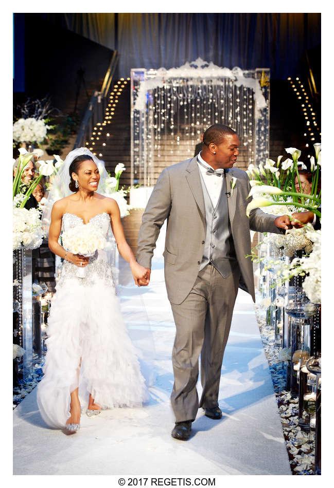 Chris Samuels Monique Cox Married 187 Wedding